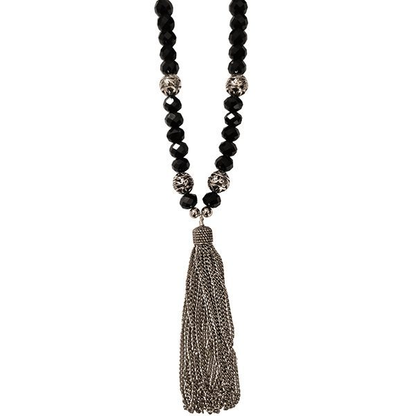 Black Tassel Necklace 2