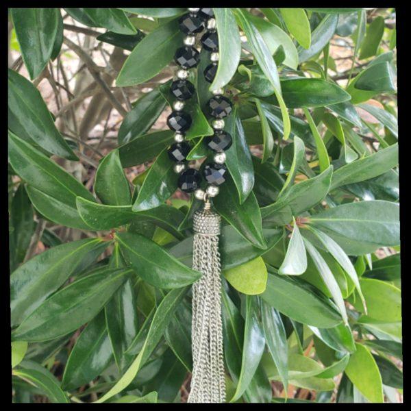 Black Tassel Necklace 1
