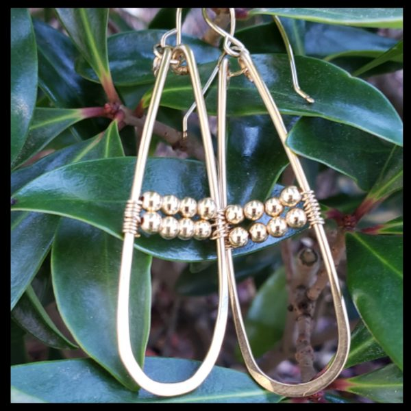 Gold Filled Carli Beaded Hoops 1