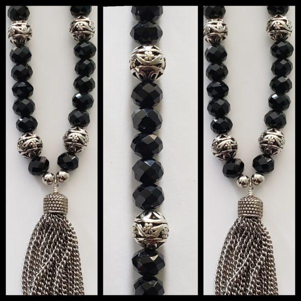 Black Crystal Necklace 1
