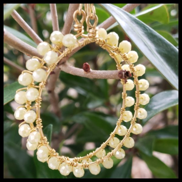 Ivory Crystal Hoops 1