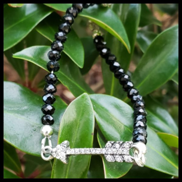 Black Crystal Arrow Bracelet 1