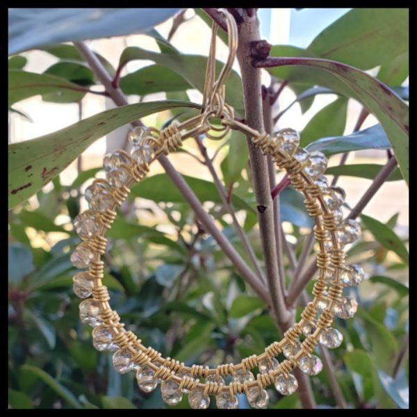 Iridescent Sparkle Hoops 1