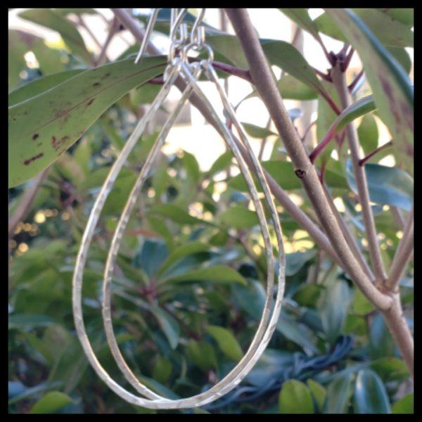 Kaitlyn Sterling Silver Hoop Earrings 1