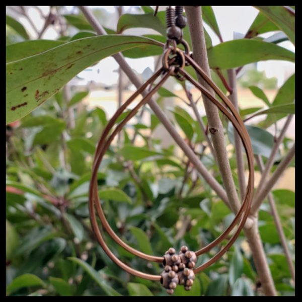 Antique Copper Hoops 1