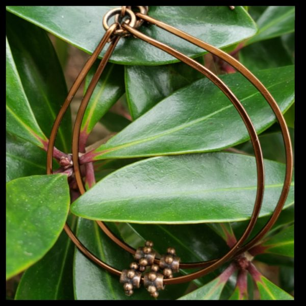 Antique Copper Hoops 2