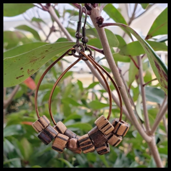 Antique Copper and Wood Hoops 1