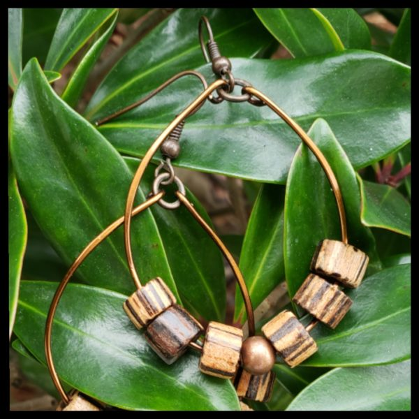 Antique Copper and Wood Hoops 2