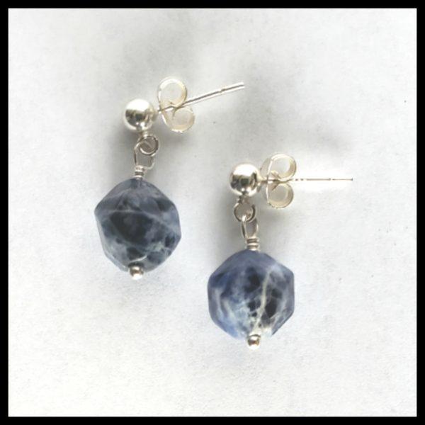 Sodalite Dangle Earrings 1