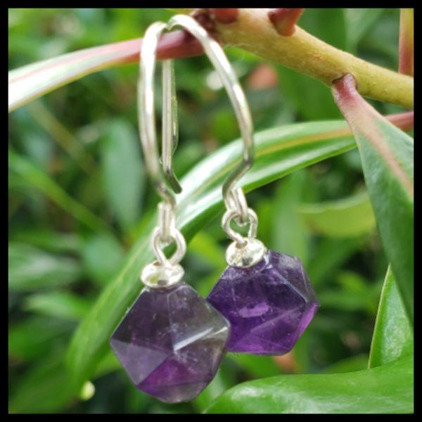 Amethyst Dangle Earrings 1