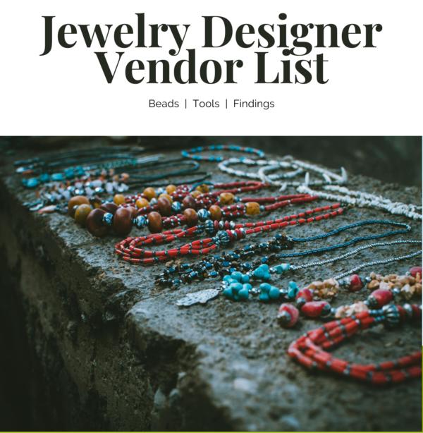 Jewelry Designer Vendor List 1