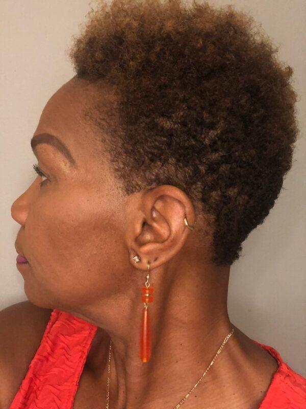 Green Sea Glass Earrings 2