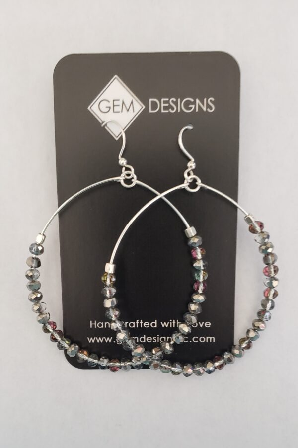 Silver Sparkle Hoops 2