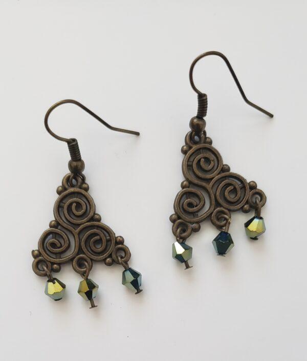 Antique Brass Earrings 1
