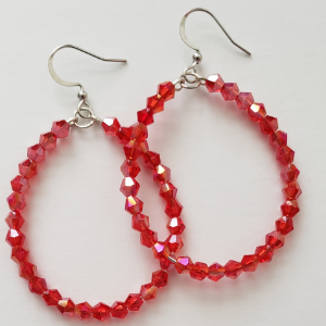 Red Sparkle Hoops 1