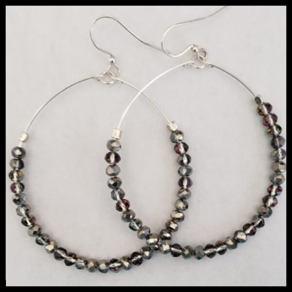 Silver Sparkle Hoops 3