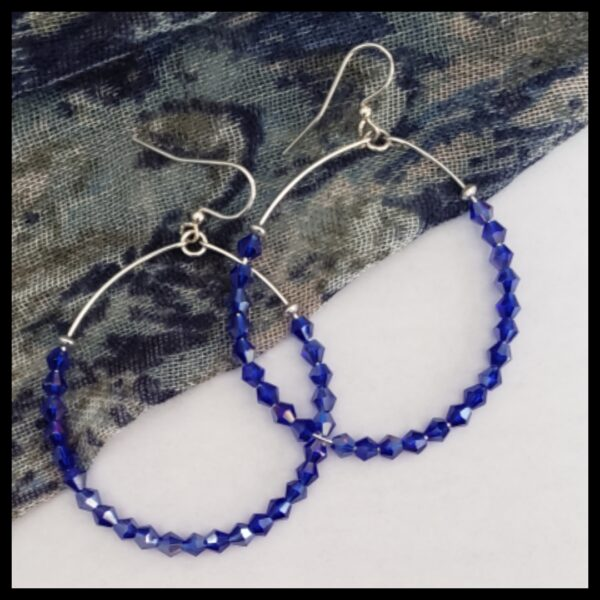 Sapphire Sparkle Hoops 1