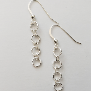 Sterling Rope Earrings 1