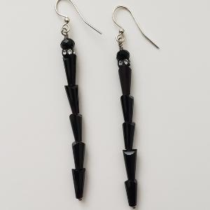 Black Cone Earrings 1
