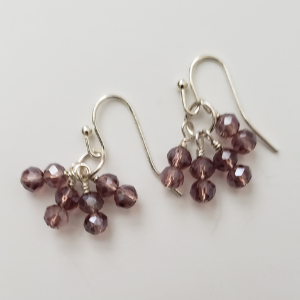 Deep Rose Dangles 1