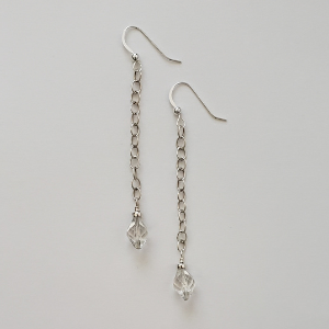 Crystal and Sterling Dangles 1